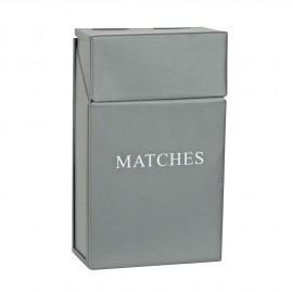 Grey Metal Match Box