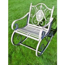 Rustic Grey Traditional Garden Rocking Chair