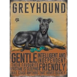 Greyhound Metal Sign