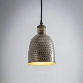Hammered Brass Bowl Hanging Light in Situ