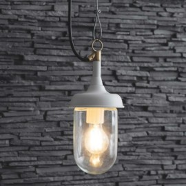 White Outdoor Hanging Pendant Light