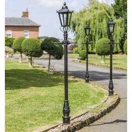 Victorian Lamp Post Black - Silhouette
