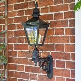 Harrogate Wall Lantern On Royale Bracket On Brick Wall