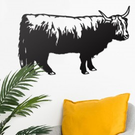 Highland Cow Wall Art in Situ in the Sitting Room