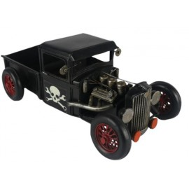 Black Hot Rod Truck Replica Ornament