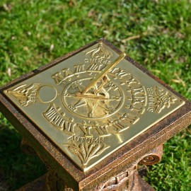 """""""Four Seasons"""" Sundial Finished in a Polished Brass"""