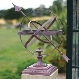 Rustic finish garden sundial Armillary