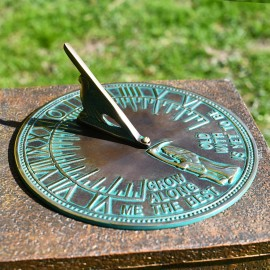 verdigris finish old father time sundial