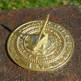 Polished Brass Sunface Sundial