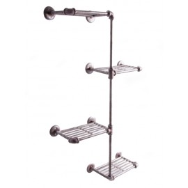 """Madsen Avenue"" Industrial Style Bathroom Shelf"