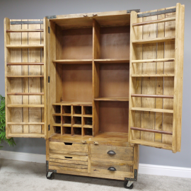 """Industrial """"Pallet Wood"""" Cabinet with Two Front Opening Doors"""