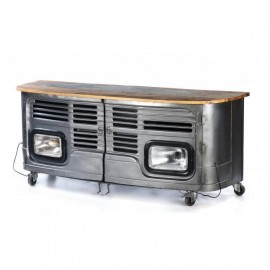 truck Cabinet Finished in a Silver Finish