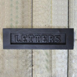 """""""Letters"""" Door Letter Plate Created From Iron"""