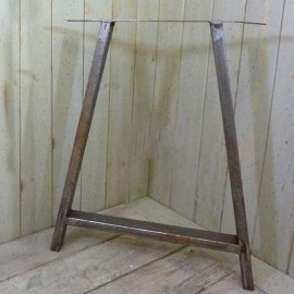 Table End 2x1 A Frame in an Antique Iron