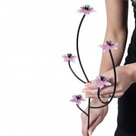 """""""Jacob's Ladder"""" Pink & White Garden Flower Spike - Pack of 3"""