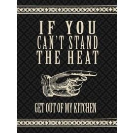 """Retro """"Get Out of My Kitchen"""" Metal Sign"""