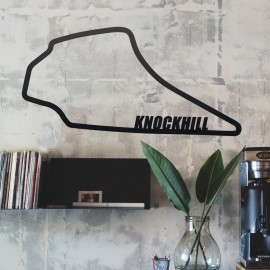 Knockhill Race Track mounted to wall