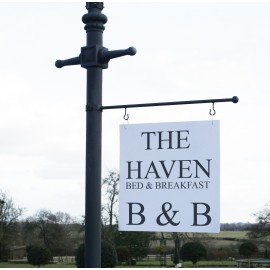 Lamp Post Hanging Sign Kit with sign writing
