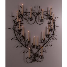 """""""Lighthearted"""" stunning wall Art with candle holders"""