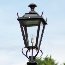 Large Black Dorchester Lantern Lantern Top