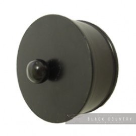 Plain Handle End Cap Finished in Black