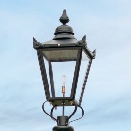 Large Black Victorian Lamp Post Top