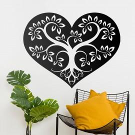 Tree Heart Wall Art in a Modern Home