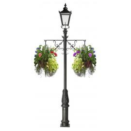 Scroll Effect Single Basket Hanging Basket Bracket For Lamp Posts