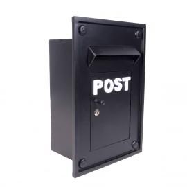 Black Kensington post box for brick work