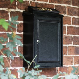"""""""Charlton Grange"""" Wall Mounted Post Box with Polished Brass Lettering"""