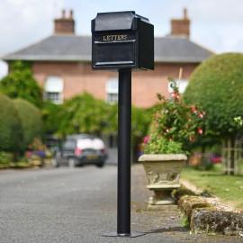 """Royal Farringdon"" Black Post Box On Stand"