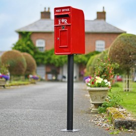 """""""Original Reproduction"""" Red Elizabeth Regina Post and Parcel Box With Stand"""