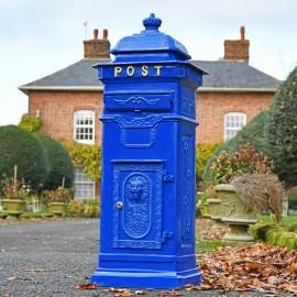 'Coastal Surf' Blue Camden Deluxe Post Box Free Standing Post Box
