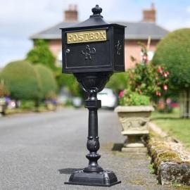 """Malabar Peppercorn"" Black Suffolk Post Box"