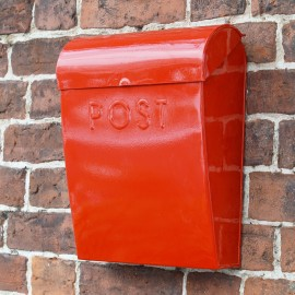 Red contemporary post box