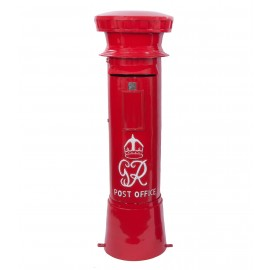 Red Traditional GR Post box with white text