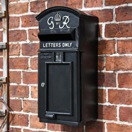 The King George Post Box Slim In Black