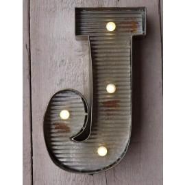 Letter J Wall Light