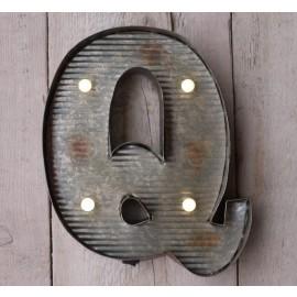 Letter Q Wall Light