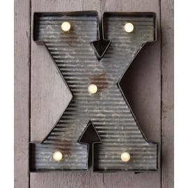Letter X Wall Light