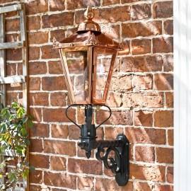 Victorian Wall light in Copper in Situ