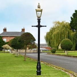 Black Harrogate lamp post set 2.2m