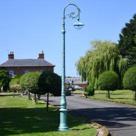 Antique Blue Deluxe Cast Iron Victorian Lamp Post 3.1m