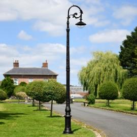 """Lady Eris"" Black Finish Ornate Victorian Cast Iron Lamp Post 3.5m"