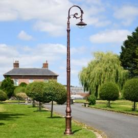 Antique Copper Finish Ornate Victorian Cast Iron Lamp Post 3m