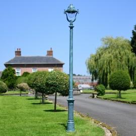 Verdigris Green Opulent Cast Iron Lamp Post 3m