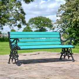 Green Victorian Park Bench