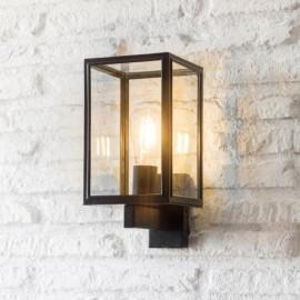 Modern Black Square-Shaped Wall Light in Situ