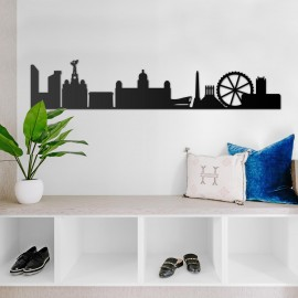 Metal Liverpool Skylinein Situ in the Home