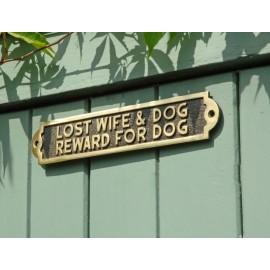 Lost Wife & Dog Reward For Dog